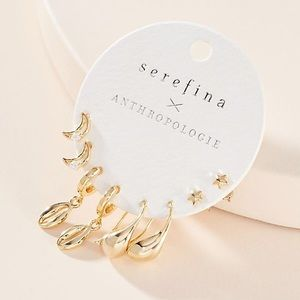 Serefina x Anthropologie Brady Earring Set NWT